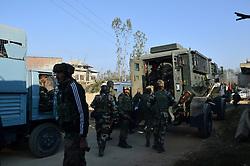 October 14, 2017 - Pulwama, Jammu and Kashmir, India - Lashkar-e-Taiba 'commander' Waseem Shah, another militant killed in Pulwama encounter. (Credit Image: © Muneeb Ul Islam/Pacific Press via ZUMA Wire)