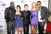 """l to r: Akon, Kat De Luna, Connor Paolo, Katrina Bowden and Ryan Leslie at """" The Ultimate Prom"""" presented by Universal Motown and Mypromstyle.com held at Pier 60 at Chelsea Piers in New York City."""