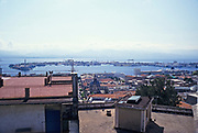 View across the Straits of Messina from Messina, Sicily, Italy in 1999