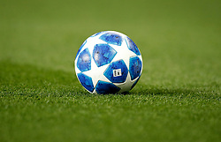 A general view of the Adidas Finale 18 Match Ball on the pitch during the UEFA Champions League, Group H match at Old Trafford, Manchester.
