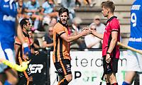 ROTTERDAM -  Augustin Mazzilli (Oranje-Rood) heeft gescoord tijdens de wedstrijd om de derde plaats , Kampong- Oranje Rood , bij de ABN AMRO cup. COPYRIGHT KOEN SUYK