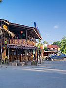 Maxi's restaurant, in downtown Manzanillo, Limon, Costa Rica