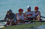 Aiguebelette, FRANCE.  USA M4-. putting on a Tracksuits and compression trousers, 08:59:55  Saturday  21/06/2014. [Mandatory Credit; Peter Spurrier/Intersport-images]