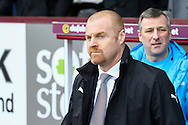 Burnley Manager Sean Dyche looks on from the dugout. The Emirates FA cup 5th round match, Burnley v Lincoln City at Turf Moor in Burnley, Lancs on Saturday 18th February 2017.<br /> pic by Chris Stading, Andrew Orchard Sports Photography.