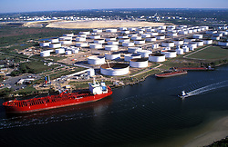 Oil Tankers In Port Of Houston