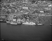 """Ackroyd 14549-2. """"Wisco. aerial of plant - river side. April 4, 1967"""""""