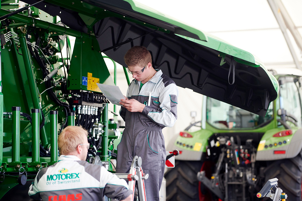 Landmaschinenmechaniker/in EFZ, Mécanicien en machines agricoles CFC / Mécanicienne en machines agricoles CFCMeccanico di macchine agricole (AFC) / Meccanica di macchine agricole (AFC), AM Suisse - Agrotec Suisse. © Manu Friederich