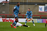 1-1, GOAL scored by Forest Green Rovers Jake Young(18) during the EFL Sky Bet League 2 match between Morecambe and Forest Green Rovers at the Globe Arena, Morecambe, England on 24 October 2020.