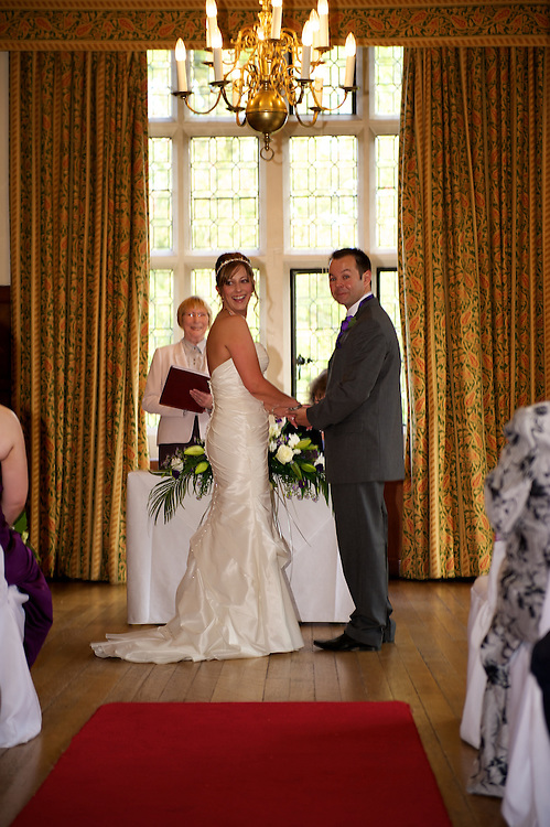 Vicky and Paul's wedding photograph at Monk Fryston Hall between Selby and Leeds