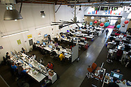 Employees work at their desks at the Pinterest office in San Francisco on Wednesday October 24, 2012. Pinterest is a content sharing service that allows users to pin images on their virtual pin-board. (Photo by Jakub Mosur/For Boston Globe)