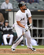 CHICAGO - SEPTEMBER 28:  Jose Abreu #79 of the Chicago White Sox bats against the Detroit Tigers during the first game of a double header on September 28, 2019 at Guaranteed Rate Field in Chicago, Illinois.  (Photo by Ron Vesely)  Subject:   Jose Abreu
