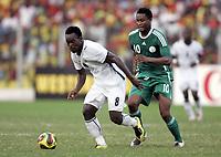Fotball<br /> Afrika mesterskapet 2008<br /> Foto: DPPI/Digitalsport<br /> NORWAY ONLY<br /> <br /> FOOTBALL - AFRICAN CUP OF NATIONS 2008 - 1/4 FINAL - 3/02/2008 - GHANA v NIGERIA - MIKAEL ESSIEN (GHA) / JOHN OBI MIKEL (NIG)