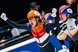 Suzanne Schulting win the final 1500 meter during ISU World Cup Finals Shorttrack 2020 on February 15, 2020 in Optisport Sportboulevard Dordrecht.