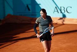 May 3, 2019 - Madrid, MADRID, SPAIN - Garbine Muguruza of Spain during the Mutua Madrid Open 2019 (ATP Masters 1000 and WTA Premier) tenis tournament at Caja Magica in Madrid, Spain, on April 28, 2019. (Credit Image: © AFP7 via ZUMA Wire)