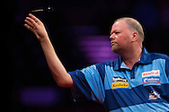 Raymond van Barneveld in action during his final match against Gary Anderson in the Betway Premier League Darts at the Brighton Centre in Brighton, East Sussex. PRESS ASSOCIATION Photo. Picture date: Thursday 15th May, 2014. Photo credit should read: Chris Ison/PA Wire.
