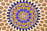 Handpainted ceiling of the dome of the Persia Court, Ibn Battuta Mall, Dubai, United Arab Emirates