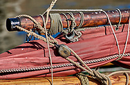 By The sea - Honfleur -  colour photo art by Paul Williams  of sailing boat in the old port of Honfleur taken in 2009