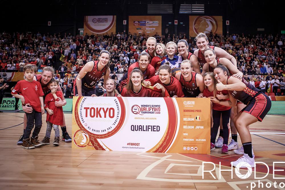 Belgian Cats kwalificeren zich voor Olympische Spelen in Tokio! <br /> <br /> Day 3: SWEDEN VS BELGIUM : 53-61<br /> <br /> FIBA Women's Olympic Qualifying Tournament 2020 – Ostend,  Belgium<br /> Ostend Versluys Dôme (BEL)<br /> <br /> ©RhodePhotoMedia