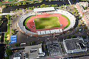 Nederland, Noord-Holland, Amsterdam, 27-09-2015; Amsterdam-Zuid, Amstelveenseweg, Stadionplein en Amsterdam Olympisch Stadion.<br /> Amsterdam (Old) South neighbourhood, Amsterdam Olympic Stadium.<br /> <br /> luchtfoto (toeslag op standard tarieven);<br /> aerial photo (additional fee required);<br /> copyright foto/photo Siebe Swart