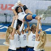 Anadolu Efes's show girls during their Turkish Basketball League match Anadolu Efes between Bandirma Kirmizi at Sinan Erdem Arena in Istanbul, Turkey, Saturday, December 24, 2011. Photo by TURKPIX
