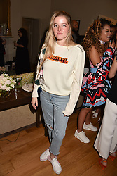 Charlotte Simone at the Rosie Fortescue Jewellery Launch, Brown's Hotel London England. 10 May 2017.<br /> Photo by Dominic O'Neill/SilverHub 0203 174 1069 sales@silverhubmedia.com