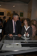 Mandy Bornell and Jack Straw. Royal Society of Painter-Printmakers Annual exhibition. Opened by Jack Straw. Bankside Gallery. London. 14 September 2005. ONE TIME USE ONLY - DO NOT ARCHIVE  © Copyright Photograph by Dafydd Jones 66 Stockwell Park Rd. London SW9 0DA Tel 020 7733 0108 www.dafjones.com