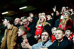 Bristol City fans cheer on their side - Mandatory by-line: Dougie Allward/JMP - 20/12/2017 - FOOTBALL - Ashton Gate Stadium - Bristol, England - Bristol City v Manchester United - Carabao Cup Quarter Final