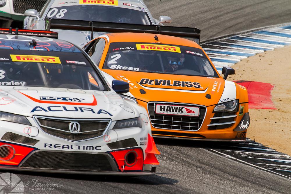 Racing action at Mazda Laguna Raceway, Monterey Peninsula, California