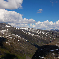 Europe, Norway, Geiranger. View from the Dalsnibba Plateau in Geiranger, a UNESCO World Heritage Site.