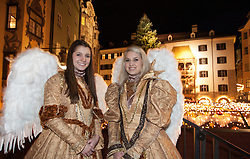 15.11.2014, Altstadt, Innsbruck, AUT, Eröffnung Innsbrucker Christkindlmarkt, im Bild Engel// during the opening of the traditional Innsbruck Christmas Market at the old centre of Innsbruck on 2014/11/15. EXPA Pictures © 2014 PhotoCredit EXPA Jakob Gruber