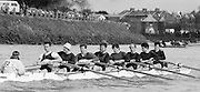 Chiswick. London.<br /> Eights starting from Mortlake<br /> City Of Oxford.<br /> 1987 Head of the River Race over the reversed Championship Course Mortlake to Putney on the River Thames. Saturday 28.03.1987. <br /> <br /> [Mandatory Credit: Peter SPURRIER;Intersport images] 1987 Head of the River Race, London. UK