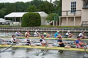 Henley. Great Britain.   Molesey Eights 40+ and 50+ 175th  Henley Royal Regatta, Henley Reach. England. 08:22:07  Sunday  06/07/2014. [Mandatory Credit; Intersport-images] <br /> <br /> Crews 40's Bow, Dan RITCHIE, James WRIGHT, Jonny SEARLE, Guy POOLEY, Alex Partridge, Mike BLOMQUIST, Simon FIELDHOUSE, Dave GILLARD, Neil CHUGANI,<br /> <br /> 50's Richard STANHOPE, Martin CROSS, Malcolm MCGOWAN, Joe MICHELS, Jean CHRISTOPHE-ROLLAND, Matt PINSENT, Ian MCNUFF, Diederik SIMON cox Gary HERBERT