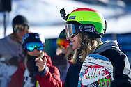 Halldor Helgason during Snowboard Slopestyle Practice at 2014 X Games Aspen at Buttermilk Mountain in Aspen, CO. ©Brett Wilhelm/ESPN