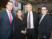 """29/02/2014  Barry Cooley, Sharon Egan,  Padraic Moran  and Ronan Keating  from AIB Galway business expo which was hosted by NUI Galway in the Bailey Allen Hall, NUIG .<br />  <br /> Inspired by the rapidly growing global trends of health and wellness, NUA Naturals supplies and distributes high quality health food in Ireland and the UK while also sourcing raw ingredients internationally which are then packaged and distributed under the NUA brand name.<br />  <br /> Established in 2011, NUA Naturals currently employs 11 people at their base in Westside, Galway. The company entered the UK market last year and has plans to increase their reach internationally over the next 18 months.<br />  <br /> NUA Naturals' Niall Fennell was presented with his prize by Padraig O' Callaghan, Chairman of St. Columba's Credit Union Galway, and John Lenihan, Chairman of SCCUL Enterprises who jointly sponsored the winner's prize.<br />  <br /> Speaking at the event, Mr. Fennell said that he was honored and delighted to receive this award.<br />  <br /> """"Entering the SCCUL Awards has been an incredible experience for us. It has allowed us to take a step back and really look at our business. We will invest our award back into our business to help us take our business to the next level,"""" said Mr. Fennell.<br />  <br /> NUA Naturals also receives a €2500 advertising package from local media sponsor Galway Independent and a specially commissioned sculpture by Galway based sculptor, Liam Butler. Photo:Andrew DownesThe SCCUL Enterprise Social Enterprises Award was won by Act for Meningitis and Ex Ordo Ltd was the recipient of the SCCUL Enterprise ICT Award. The winner was announced at the annual SCCUL Enterprise Awards prize giving ceremony and business expo which was hosted by NUI Galway in the Bailey Allen Hall, NUIG .<br />  <br /> Inspired by the rapidly growing global trends of health and wellness, NUA Naturals supplies and distributes high quality health food in Ireland and the UK while a"""