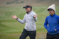 Sweden's Cajsa Parsson celebrates their win in their semi final match with Great Britain during day eleven of the 2018 European Championships at Gleneagles PGA Centenary Course.