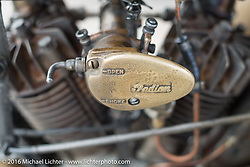 Shinya Kimura's Team-80 Chabott Engineering 1915 Indian twin during the Motorcycle Cannonball Race of the Century. Stage-11 ride from Durango, CO to Page, AZ. USA. Wednesday September 21, 2016. Photography ©2016 Michael Lichter.