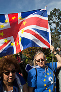 Thousands of people protest in the Unite for Europe March on Parliament against Brexit demonstration on 25th March 2017 in London, United Kingdom. The march in the capital brings together protesters from all over the country, angry at the fact that Article 50 will be invoked and to listen to the 48 percent of British voters who voiced against Brexit. Since the vote was announced, there have been demonstrations, protests and endless political comment in all forms of media. Half of the country very displeased with the result and the prospect of being taken out of the European Union against their will, and with uncertainty as to what will happen next in the politics surrounding the exit from Europe.