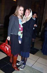 Left to right, sisters MISS DAISY DE VILLENEUVE and  MISS POPPY DE VILLENEUVE at a party to launch 'Beauty Week' at the V&A in association with Estee Lauder- a special week of debates, talks and performances celebrating beauty on 24th January 2005.<br /><br />NON EXCLUSIVE - WORLD RIGHTS