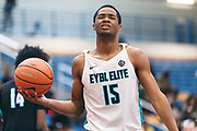 THOUSAND OAKS, CA Sunday, August 12, 2018 - Nike Basketball Academy. Cassius Stanley 2019 #15 of Sierra Canyon HS reacts to a call. <br /> NOTE TO USER: Mandatory Copyright Notice: Photo by John Lopez / Nike