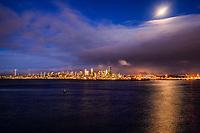 Seattle Skyline between Day & Night