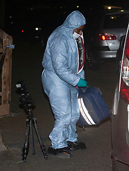 © Licensed to London News Pictures. 27/03/2019. West Norwood,UK. Forensics on scene, A teenager has been shot dead on the Hainthorpe Estate, West Norwood,London. Police  are on scene and cordons in place, the victim was pronouced dead at the scene. Photo credit: Grant Falvey/LNP