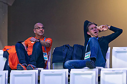 Andre Cats and Arjen Boonstoppel during Netherlands vs Malta on LEN European Aquatics Waterpolo January 21, 2020 in Duna Arena in Budapest, Hungary