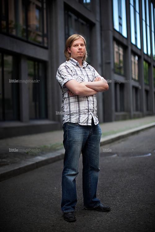 Sveinung Golimo, producer in the filmcompany Filmkameratene based in Oslo. 17.07.2009. Photo: Christopher Olssøn.