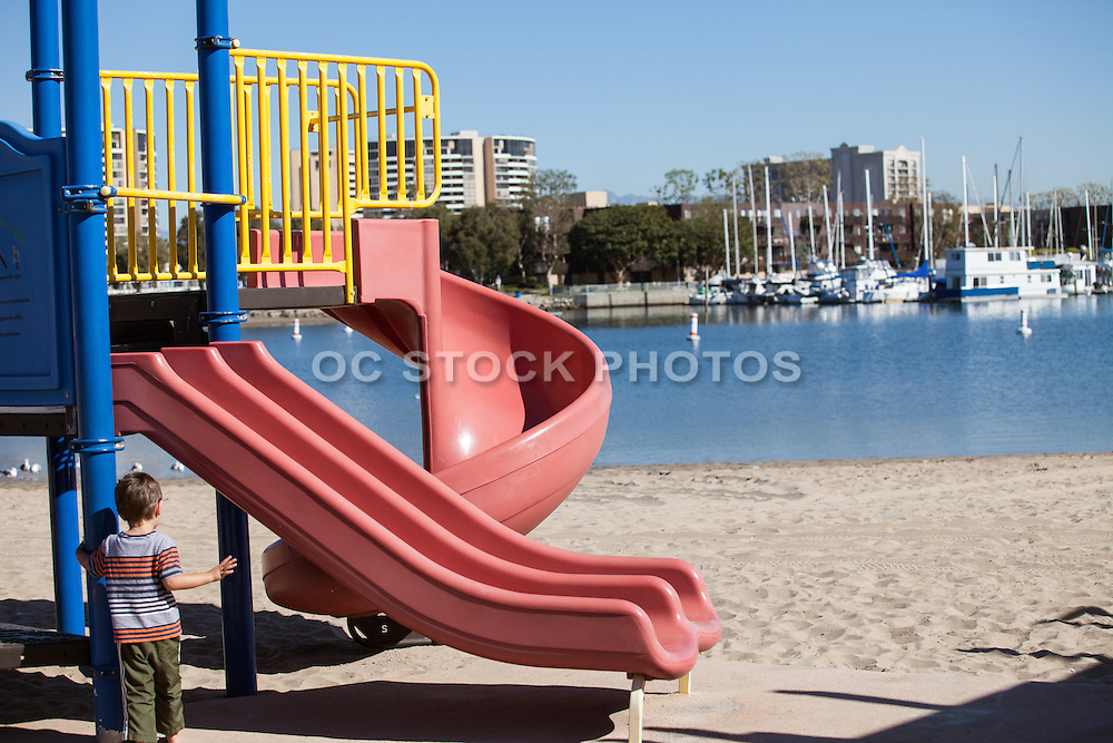 Children's Playground at the Beach in the Marina Del Rey Harbor
