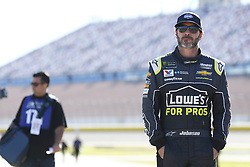 September 14, 2018 - Las Vegas, Nevada, United States of America - Jimmie Johnson (48) hangs out on pit road before qualifying for the South Point 400 at Las Vegas Motor Speedway in Las Vegas, Nevada. (Credit Image: © Chris Owens Asp Inc/ASP via ZUMA Wire)