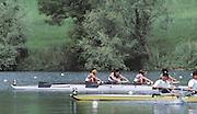 Lucerne, SWITZERLAND. USA LW4-. 1992 FISA World Cup Regatta, Lucerne. Lake Rotsee.  [Mandatory Credit: Peter Spurrier: Intersport Images] 1992 Lucerne International Regatta and World Cup, Switzerland