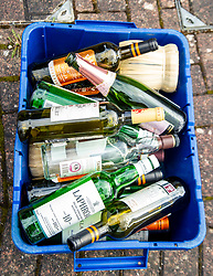 The results of essential shopping for some people to help cope with the unexpected long periods confined with their households are in evidenceahead of rubbish collection day
