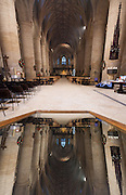 Interior of Tewkesbury Abbey