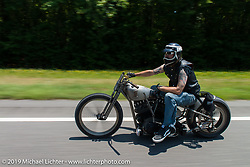 Led Sled Customs owner Pat Patterson on the ride from Suck, Bang, Blow in Murrells Inlet, SC to Rockingham, NC for the Smokeout 2015. USA. June 18, 2015.  Photography ©2015 Michael Lichter.