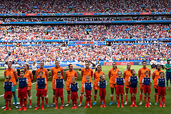 07-07-2019 FRA: Final USA - Netherlands, Lyon<br /> FIFA Women's World Cup France final match between United States of America and Netherlands at Parc Olympique Lyonnais. USA won 2-0 / Line up Netherlands
